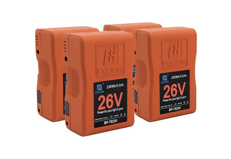 4 batterie v-lock 26v per sito Ouvert